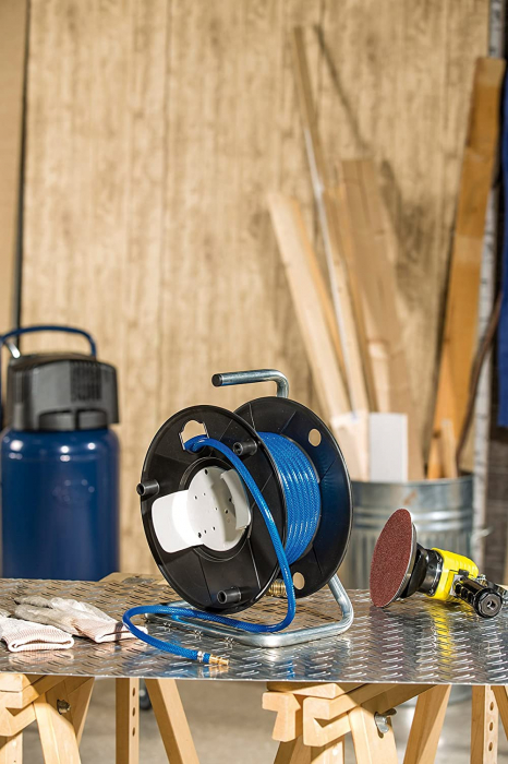 Furtun Aer comprimat compresor Brennenstuhl cu tambur, 20m, Ø 6/12mm, 15 bari 2