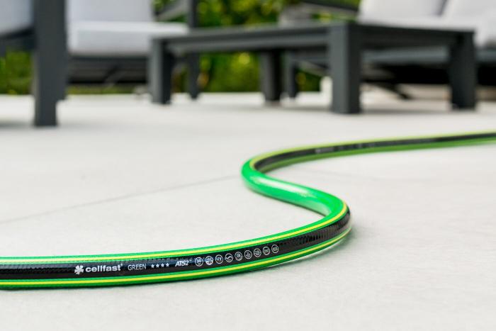 "Furtun pentru gradina Cellfast GREEN cu 5 straturi, 3/4"", Armat, 25m, protectie UV, antirasucire 1"