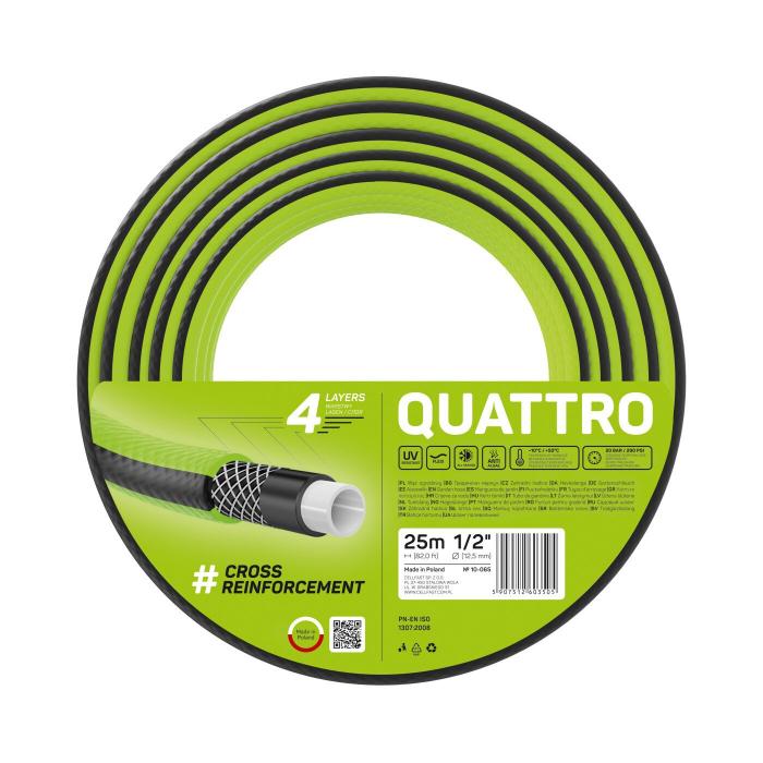 "Furtun pentru gradina Cellfast QUATTRO  cu 4 straturi, 1/2"",  Armat, 25m, protectie UV 0"