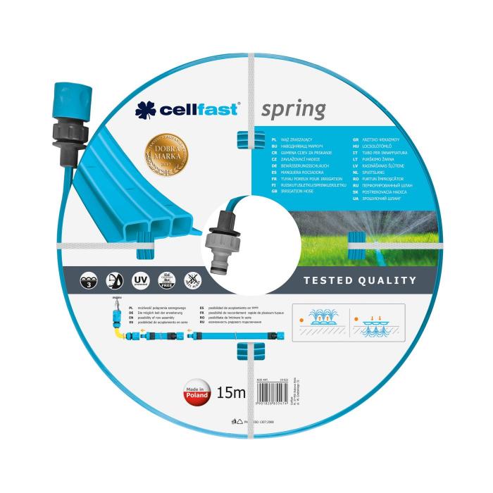 """Furtun pentru irigare Cellfast Spring 1/2"""", lungime 15m, trei tuburi, duze pentru irigare [0]"""