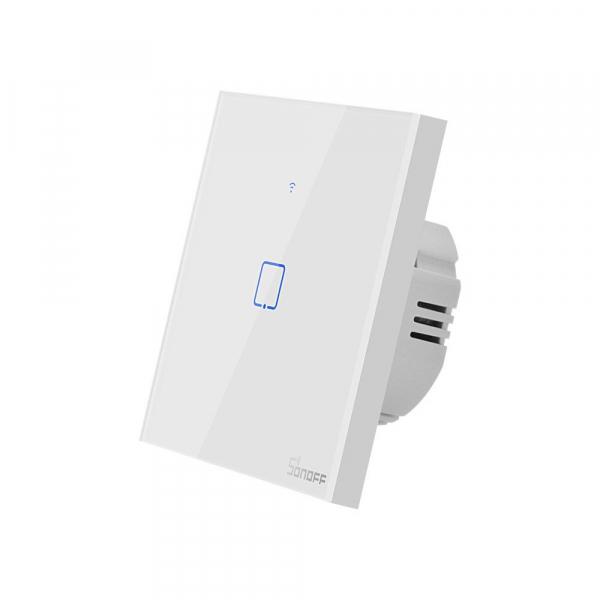 Intrerupator Smart  cu Touch Wifi + RF 433 Sonoff T1 EU TX, 1 canal [3]