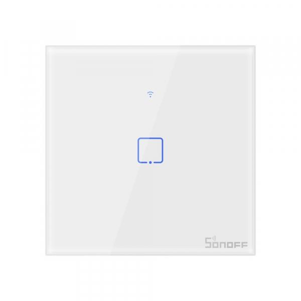 Intrerupator Smart  cu Touch Wifi + RF 433 Sonoff T1 EU TX, 1 canal [0]