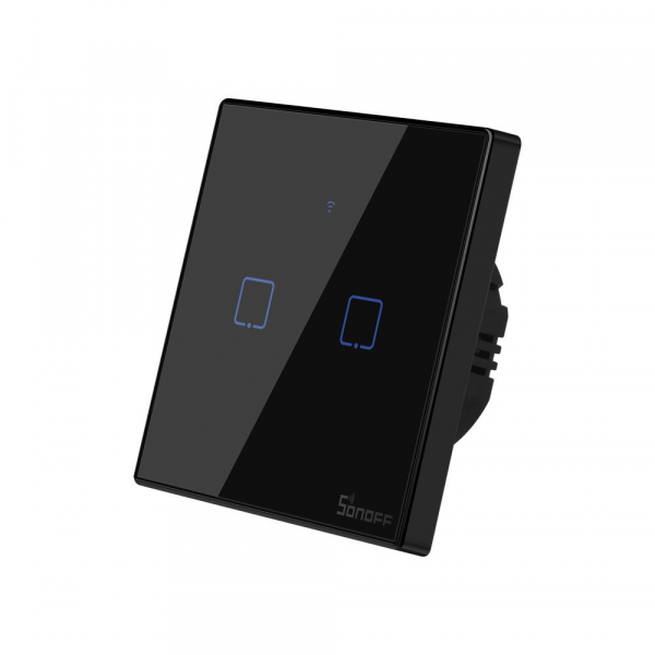 Intrerupator Smart  cu Touch WiFi + RF 433 Sonoff T3 EU TX, (2 canale) [3]