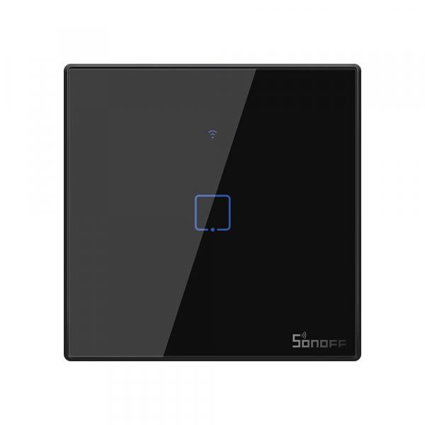 Intrerupator Smart  cu Touch WiFi + RF 433 Sonoff T3 EU TX, 1 canal [0]