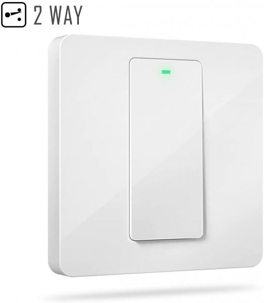 Intrerupator Smart Meross MSS550 WiFi, 2 sensuri 1