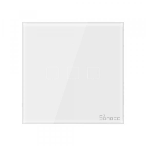Intrerupator Smart  cu Touch  Sonoff T0 EU TX , WiFi, (3 canale) 2