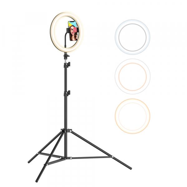 Lampa Circulara LED BlitzWolf BW-SL2 Make up Profesionala, Ring Light 120 Leduri cu Lumina Rece/Calda 10