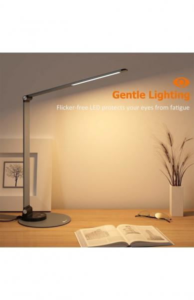 Lampa de birou cu LED TaoTronics TT-DL66, incarcare USB, 6 niveluri de luminozitate - Black 4