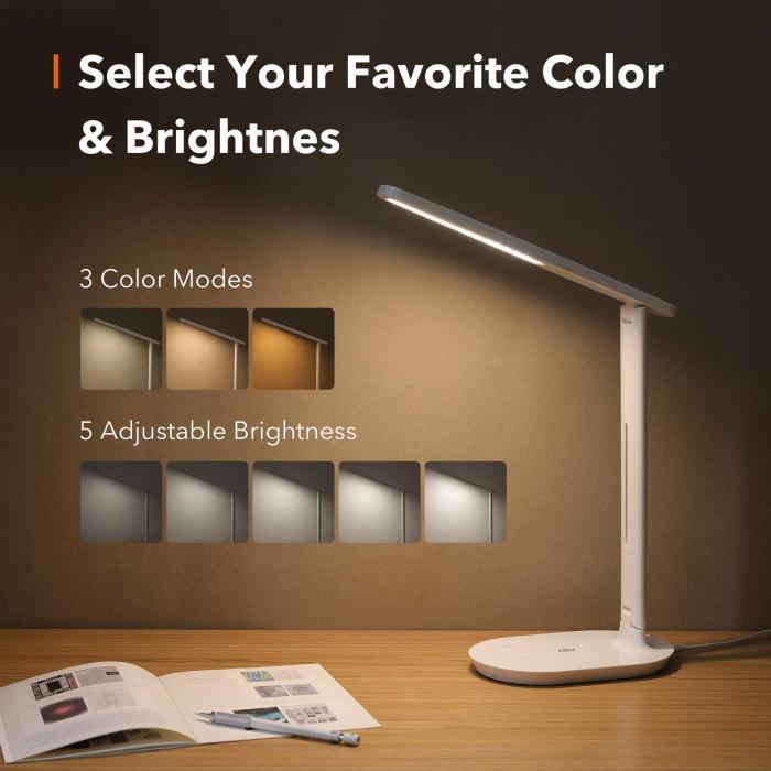 Lampa de birou LED TaoTronics TT-DL064 control Touch, 5 moduri, 5W [6]