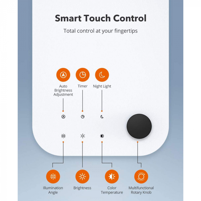 Lampa de birou LED TaoTronics TT-DL092, control touch, reglare automata a luminii [5]