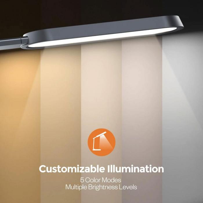 Lampa de birou LED TaoTronics TT-DL056, control touch, 5 moduri, 6 niveluri de luminozitate, 12W [6]