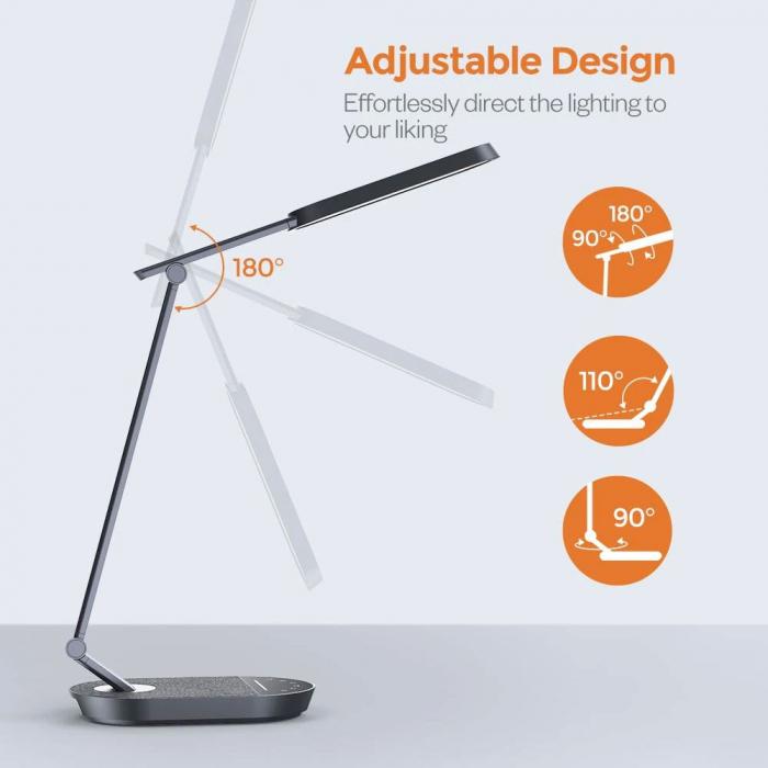Lampa de birou LED TaoTronics TT-DL056, control touch, 5 moduri, 6 niveluri de luminozitate, 12W [4]