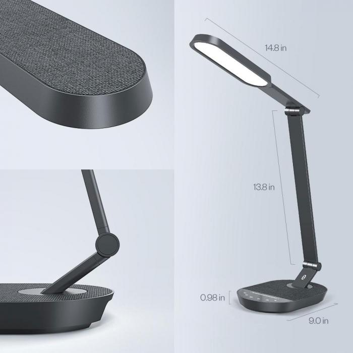 Lampa de birou LED TaoTronics TT-DL056, control touch, 5 moduri, 6 niveluri de luminozitate, 12W [2]