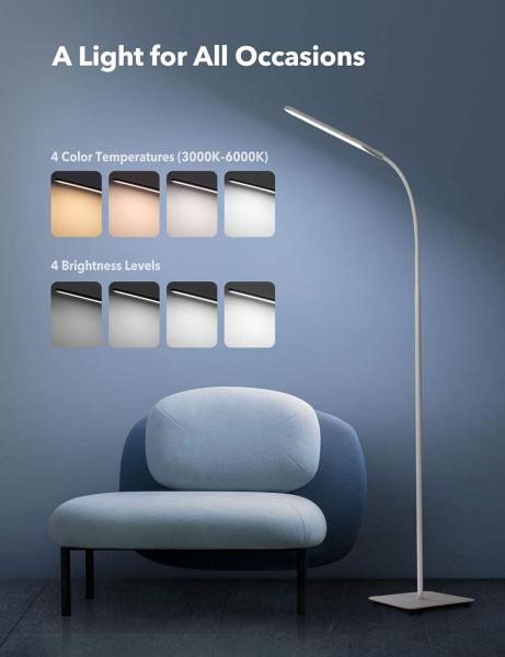 Lampa de podea LED TaoTronics TT-DL072, ajustabile 4 culori de culoare, 4 niveluri de luminozitate - Alba 4