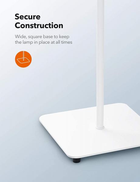 Lampa de podea LED TaoTronics TT-DL072, ajustabile 4 culori de culoare, 4 niveluri de luminozitate - Alba 5
