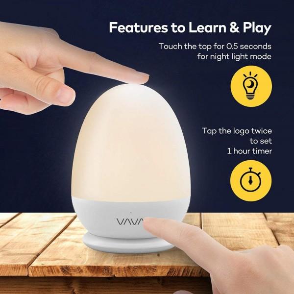 Lampa de veghe Smart VAVA VA-CL006 LED cu reglare touch a Intensitatii, lumina calda si rece 1