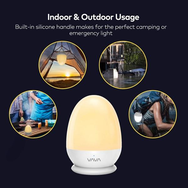 Lampa de veghe Smart VAVA VA-CL006 LED cu reglare touch a Intensitatii, lumina calda si rece 2