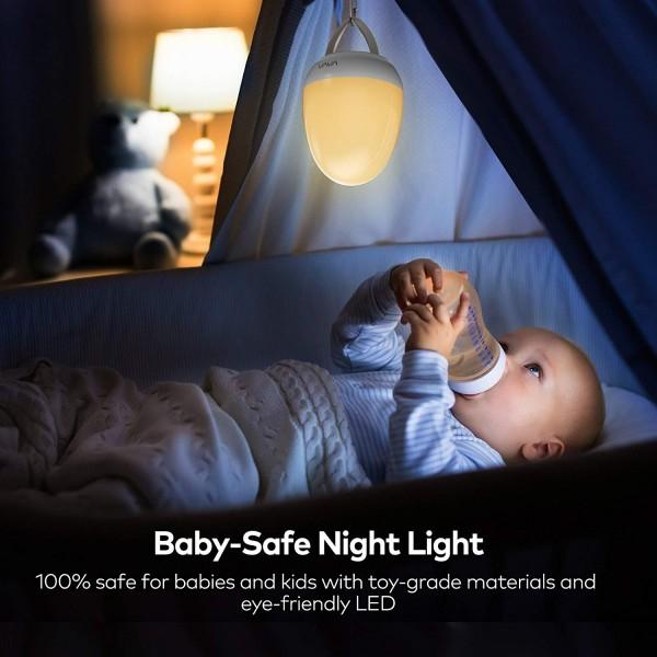 Lampa de veghe Smart VAVA VA-CL006 LED cu reglare touch a Intensitatii, lumina calda si rece 5