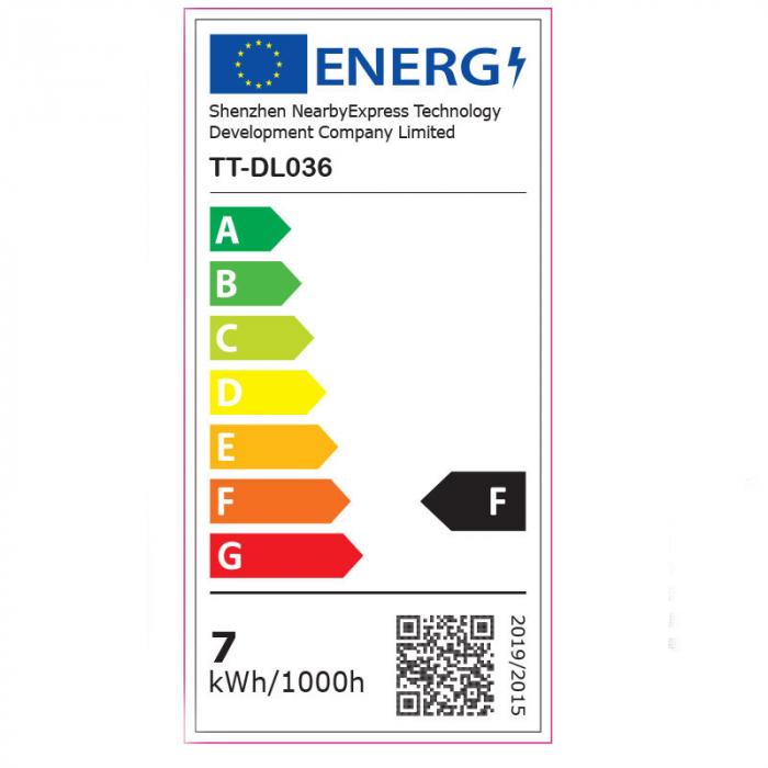Lampa LED de birou TaoTronics TT-DL036, cu incarcator wireless, control touch, USB, 12W, 410 lm, Alb [7]