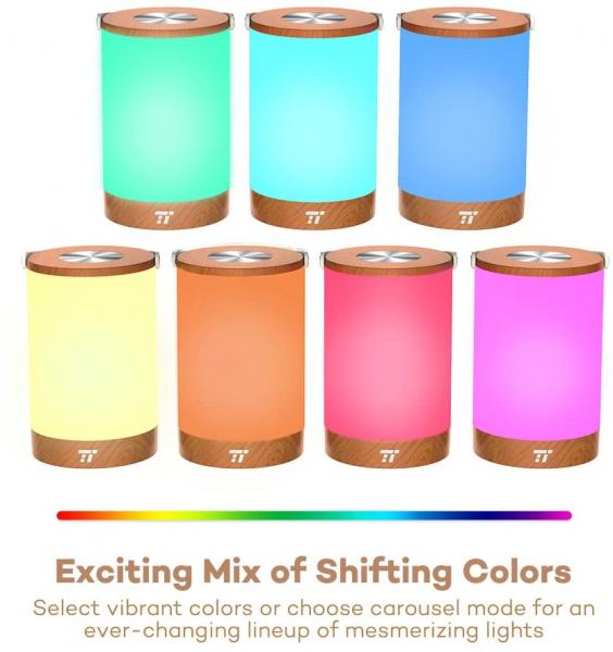 Lampa led reincarcabila TaoTronics TT-DL23 control Touch, 7 culori de lumina 2