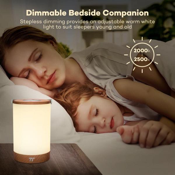 Lampa led reincarcabila TaoTronics TT-DL23 control Touch, 7 culori de lumina 8