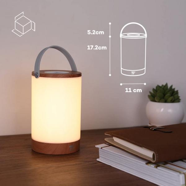 Lampa led reincarcabila TaoTronics TT-DL23 control Touch, 7 culori de lumina 3