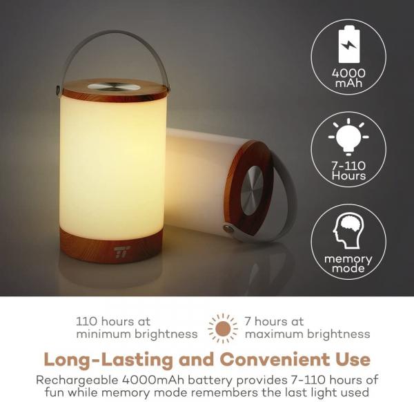 Lampa led reincarcabila TaoTronics TT-DL23 control Touch, 7 culori de lumina 4