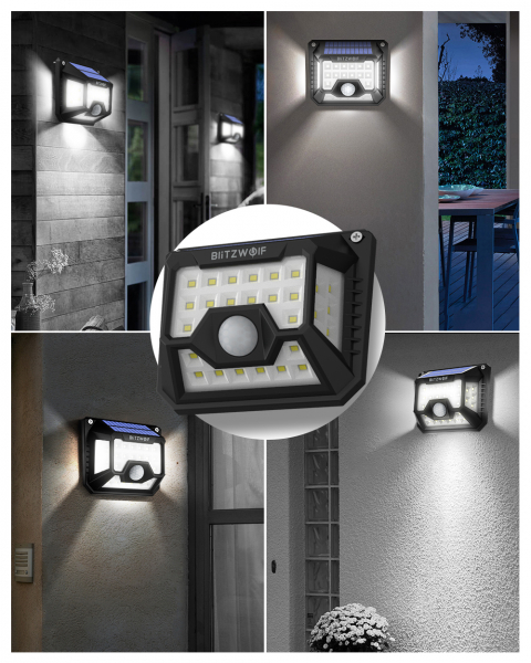 Set 2 lampi solare BlitzWolf BW-OLT3, LED, 32 leduri, incarcare solara si senzor de miscare [5]