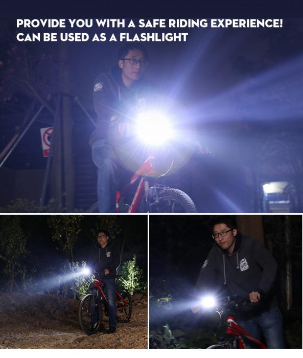 Lanterna LED pentru bicicleta Supfire GT-R3, 1400lumeni, 130m, acumulator 2400 mAh, USB [5]
