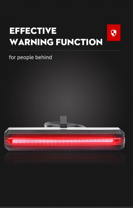 Stop LED pentru bicicleta Supfire BL07, reincarcabil USB, 6 moduri luminare [7]