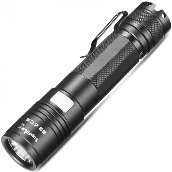 Lanterna LED Supfire A5, 300lm, 200M incarcare USB, Negru [0]