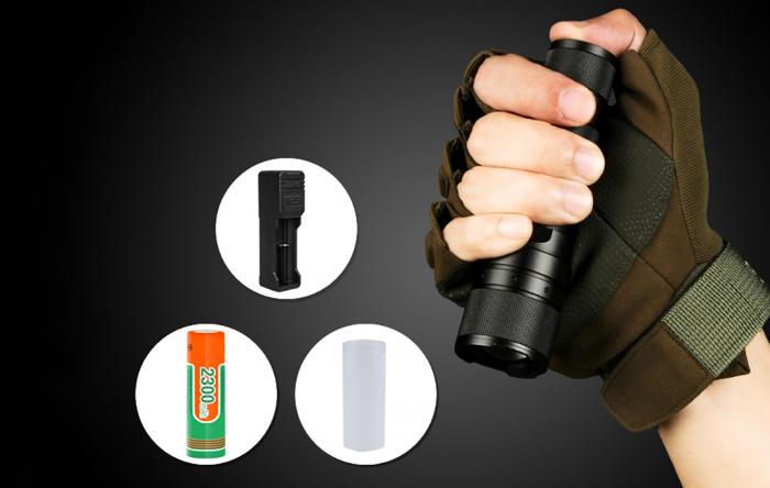 Lanterna LED Supfire F3-L2, ZOOM, 1100lm, 300m, incarcare USB, Negru [3]