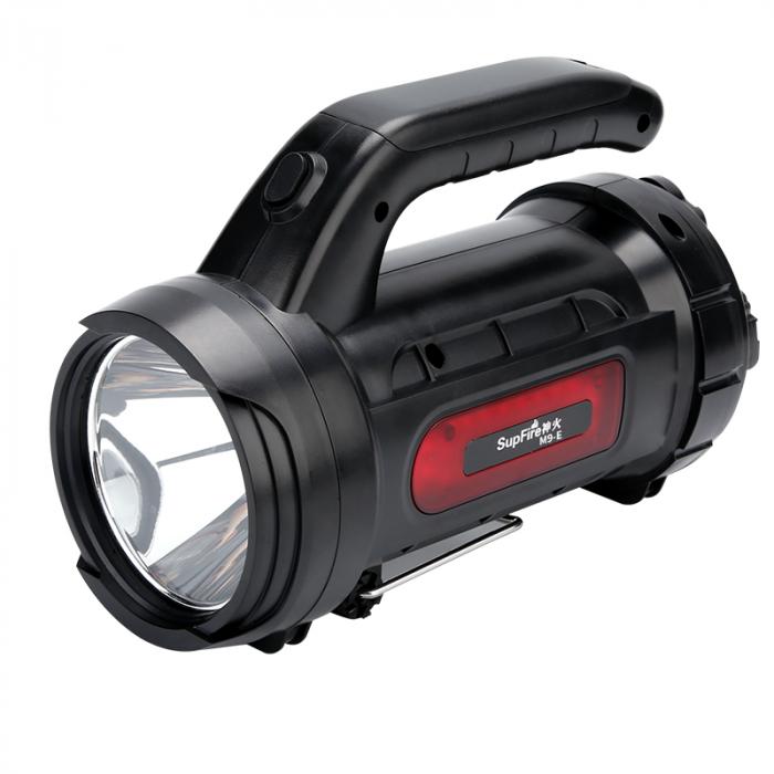 Lanterna LED Supfire M9-E, USB, 775lm, 473m, PowerBank, incarcare USB, 6000mAh, lumina rosie [0]