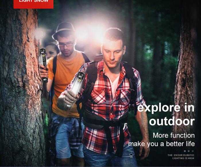Lanterna LED SupFire T3, Pentru Camping, lumina anti insecte, 3600 mAh, 6 moduri, IP46, incarcare USB, functie Powerbank [7]