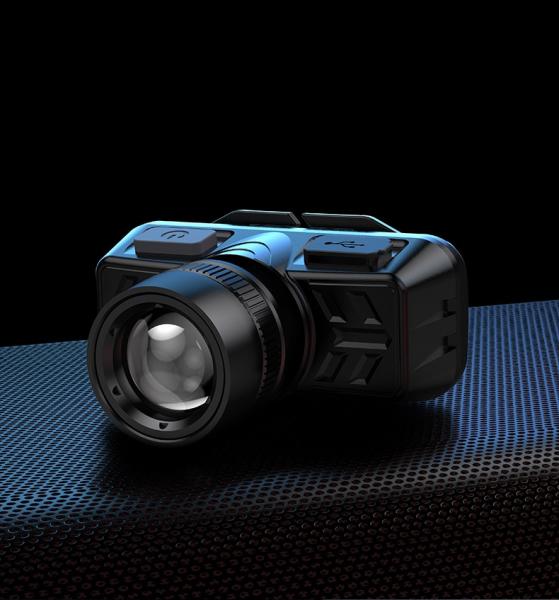 Lanterna LED pentru cap Supfire HL50, USB, 300lm, 200m, incarcare USB 4