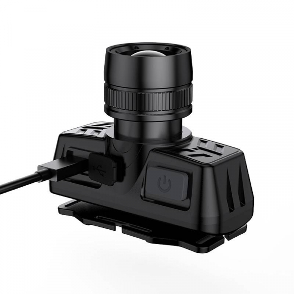 Lanterna LED pentru cap Supfire HL50, USB, 300lm, 200m, incarcare USB 1