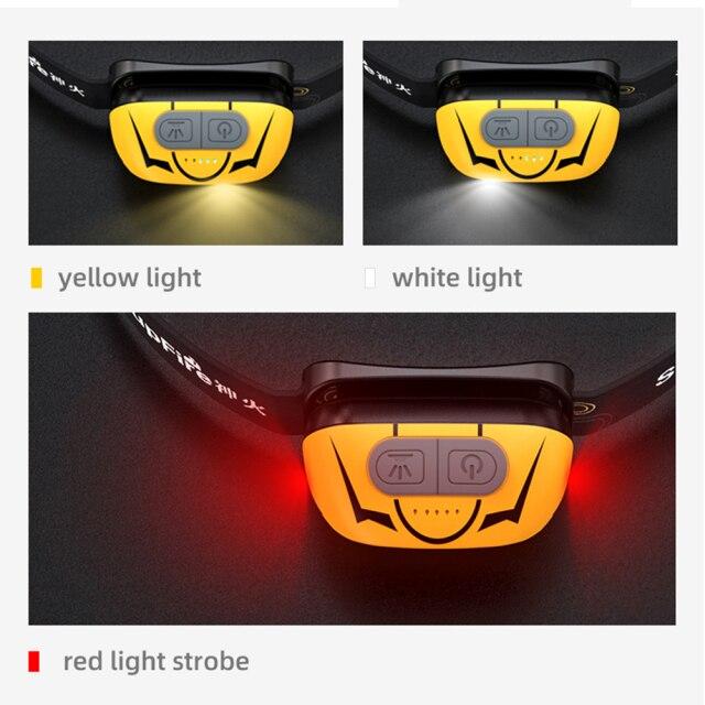 Lanterna LED pentru cap Supfire HL05-S, USB, 500lm, incarcare USB, control miscare mana [2]
