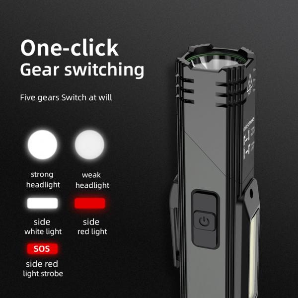 Lanterna Multifunctionala LED Supfire G19, USB, 500lm, 200m, incarcare USB, lumina rosie, suport cap, prindere magnetica [6]