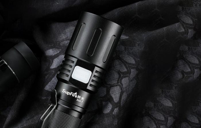 Lanterna LED SupFire X60-T cu Zoom, 36W, 3000 lm, 3400 mAh, incarcare USB, IP34, functie Powerbank [3]