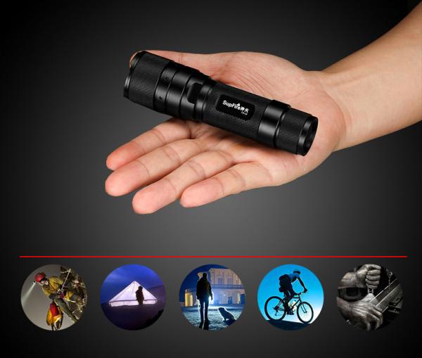 Lanterna Supfire F3-XPE, USB, ZOOM, 300lm, 250m 7