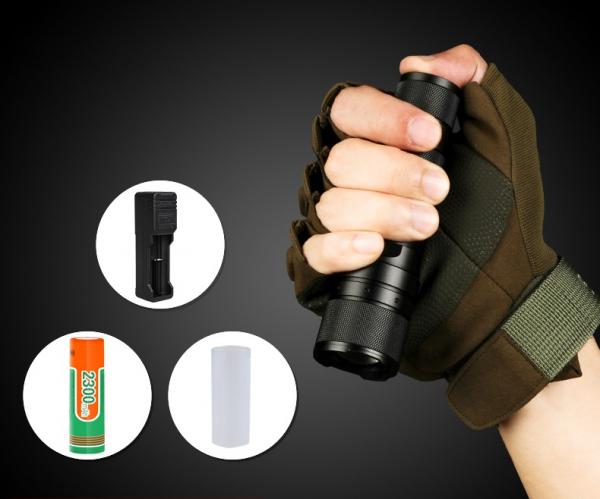 Lanterna Supfire F3-XPE, USB, ZOOM, 300lm, 250m 6