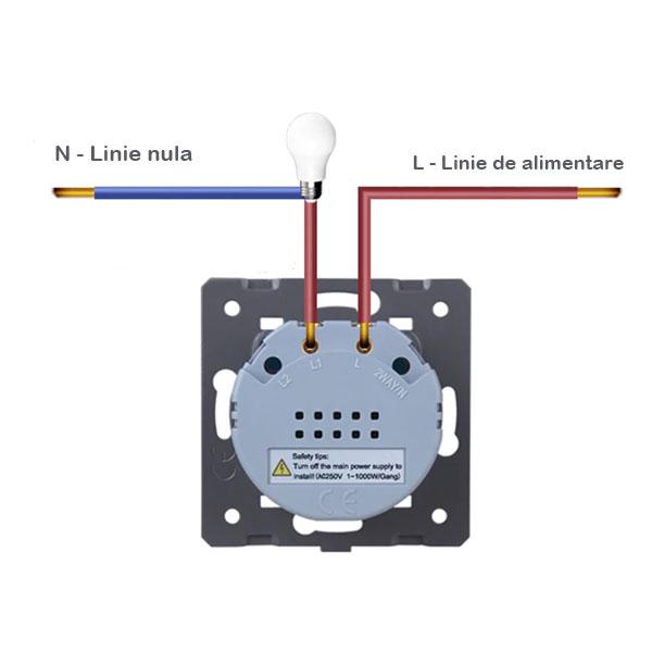 Intrerupator simplu cu touch Welaik, Wireless, Telecomanda inclusa, Negru [3]