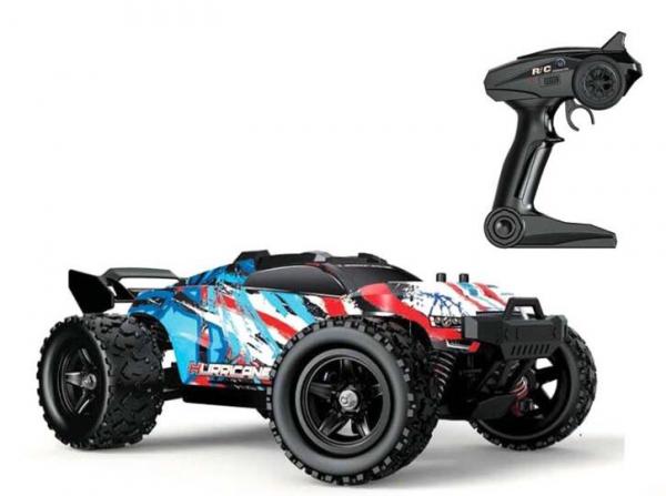 Masina cu Telecomanda Monster Truck 36 Km/h Linxtech HS18321 Off-Road Racing Tractiune 4X4, scara 1:18 Albastru - Resigilat [4]