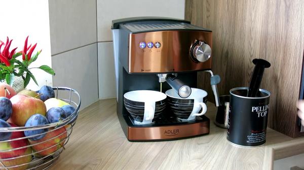 Espressor profesional ADLER AD 4404, 850W, 15 bar, 1.6l, Aramiu 3