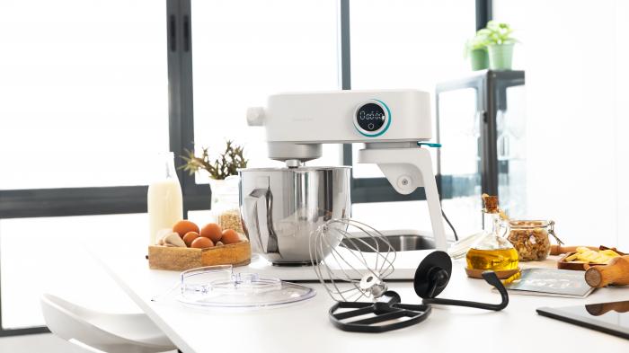 Mixer cu bol din inox Cecotec Twist&Fusion 4000 Luxury White, 800 W, Bol 5.2 L inox, 8 Viteze,afisaj digital, timer, accesorii incluse [1]