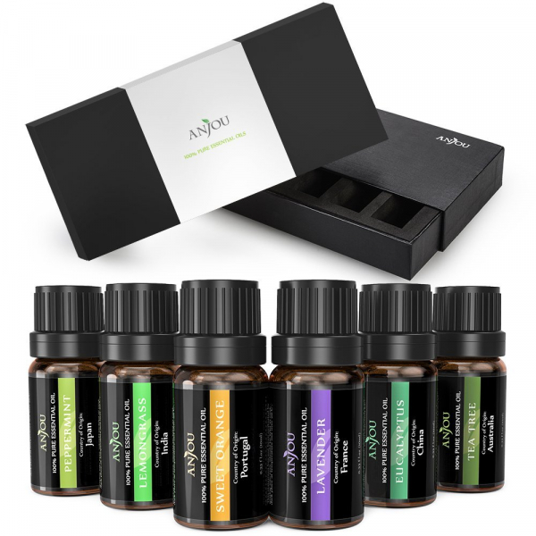 Pachet Difuzor aroma cu Ultrasunete TaoTronics TT-AD002, cu Set 6 uleiuri esentiale 2