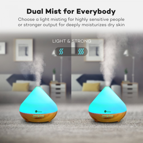 Pachet Difuzor aroma cu Ultrasunete TaoTronics TT-AD002, cu Set 6 uleiuri esentiale 6