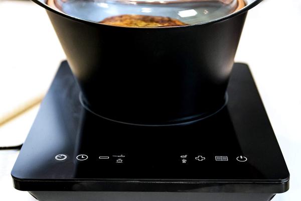 Plita cu inductie Cecotec Full Crystal, 2000W, Touch control, 2000W, cu ecran digital, control tactil, 10 niveluri, Negru [3]