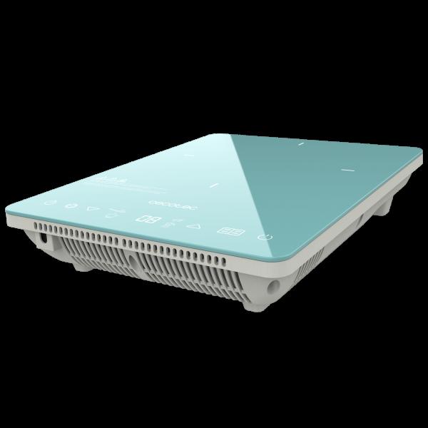 Plita cu inductie Cecotec Full Crystal Scarlet, 2000W, Touch control, 2000W, cu ecran digital, control tactil, 10 niveluri, Albastru 0