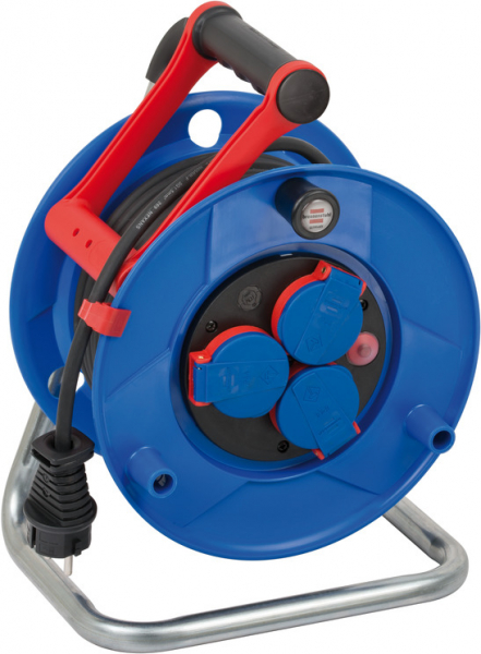 Prelungitor Exterior Brennenstuhl Garant cu tambur, 3 prize, AT-N05V3V3-F 3G1,5, 25m, IP44 [0]